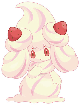 Alcremie artwork by Ken Sugimori