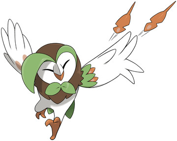 Dartrix Sugimori artwork - Attack pose