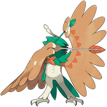Decidueye Sugimori artwork - Z-Move