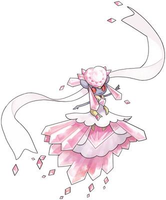 Mega Diancie Sugimori artwork - Alternate