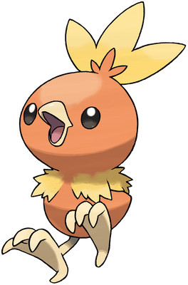 Torchic Sugimori artwork - OR/AS