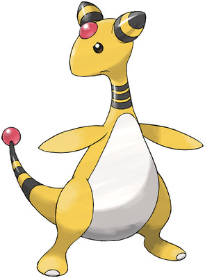 Ampharos artwork by Ken Sugimori