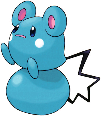 Azurill artwork by Ken Sugimori