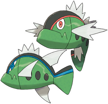 Basculin artwork by Ken Sugimori