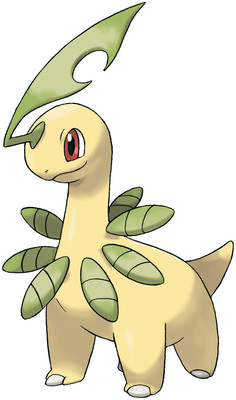 Bayleef artwork by Ken Sugimori