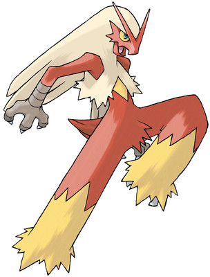 Blaziken artwork by Ken Sugimori