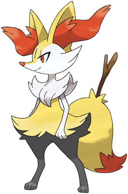 Braixen artwork by Ken Sugimori