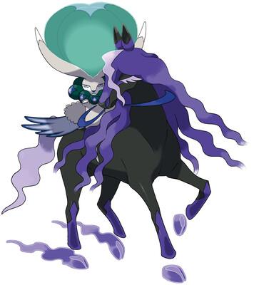 Calyrex (Shadow Rider) artwork by Ken Sugimori