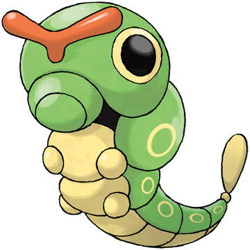 Caterpie artwork by Ken Sugimori