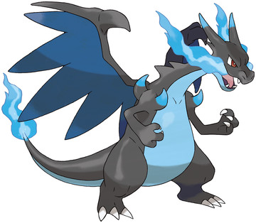 Mega Charizard X artwork by Ken Sugimori