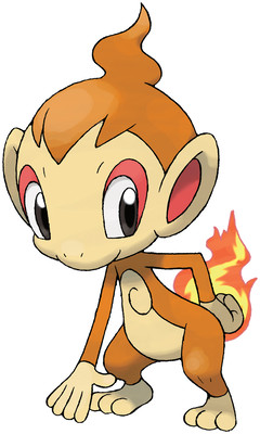 Chimchar artwork by Ken Sugimori