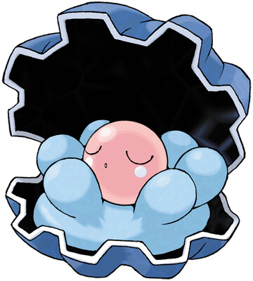 Clamperl artwork by Ken Sugimori