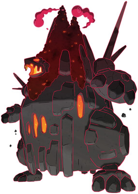 Coalossal - Gigantamax Sugimori artwork