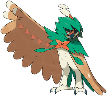 Decidueye artwork by Ken Sugimori