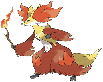 Delphox artwork by Ken Sugimori