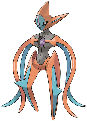 Deoxys (Attack Forme) artwork by Ken Sugimori