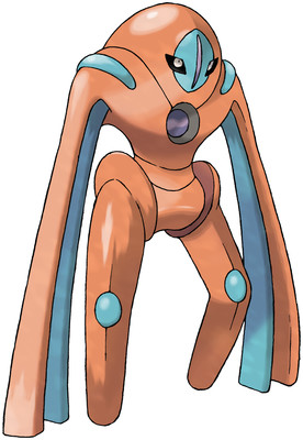 Deoxys (Defense Forme) artwork by Ken Sugimori