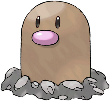 Diglett artwork by Ken Sugimori
