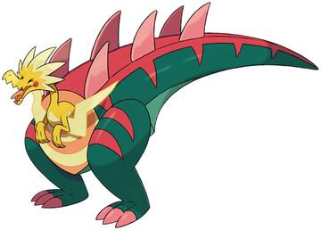 Dracozolt artwork by Ken Sugimori