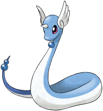 Dragonair artwork by Ken Sugimori