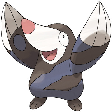 Drilbur artwork by Ken Sugimori