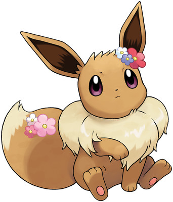 Eevee (Partner Eevee) artwork by Ken Sugimori