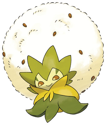 Eldegoss Sugimori artwork