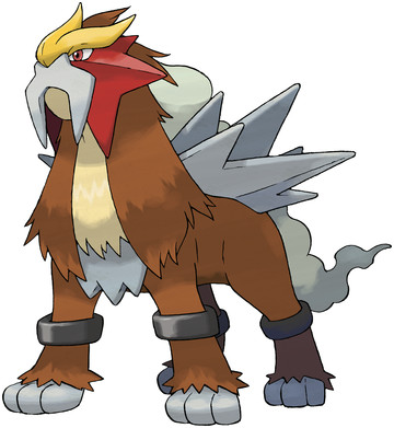 Entei artwork by Ken Sugimori