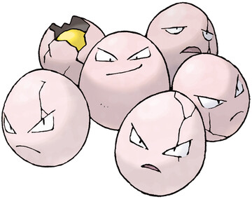 Exeggcute artwork by Ken Sugimori
