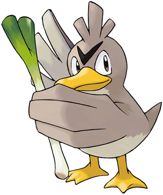 Farfetch'd Sugimori artwork