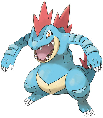 Feraligatr artwork by Ken Sugimori