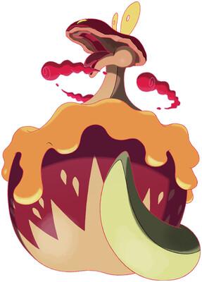 Flapple - Gigantamax Sugimori artwork