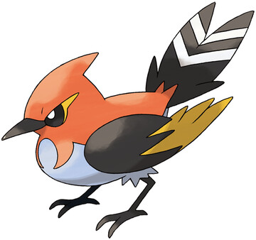 Fletchinder artwork by Ken Sugimori