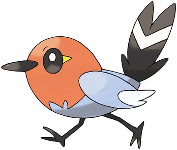 Fletchling artwork by Ken Sugimori