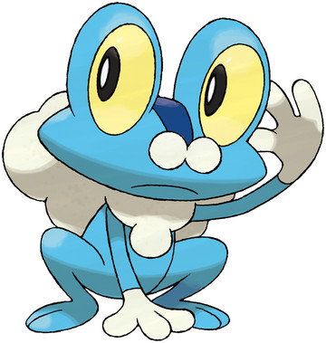 Froakie artwork by Ken Sugimori
