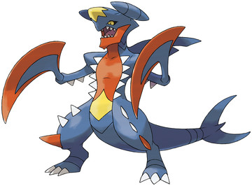 Mega Garchomp artwork by Ken Sugimori