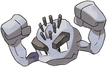 Alolan Geodude artwork by Ken Sugimori