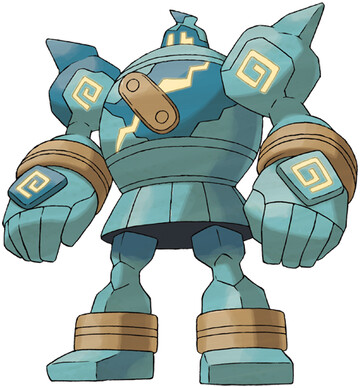 Golurk artwork by Ken Sugimori