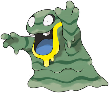 Alolan Grimer artwork by Ken Sugimori