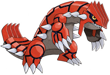 Groudon artwork by Ken Sugimori