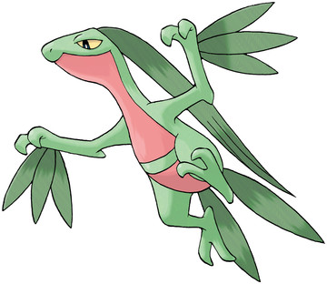 Grovyle artwork by Ken Sugimori