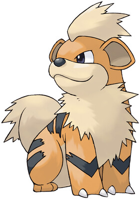 Growlithe artwork by Ken Sugimori