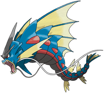 Mega Gyarados artwork by Ken Sugimori