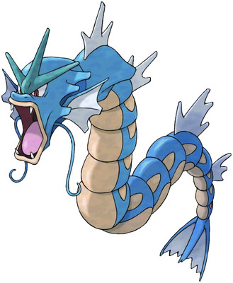 Gyarados artwork by Ken Sugimori