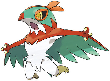 Hawlucha artwork by Ken Sugimori