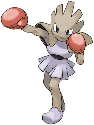 Hitmonchan artwork by Ken Sugimori