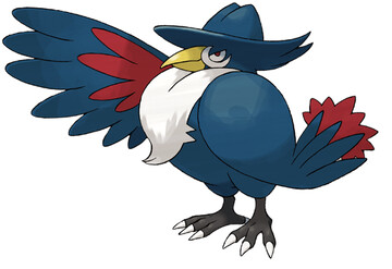Honchkrow artwork by Ken Sugimori