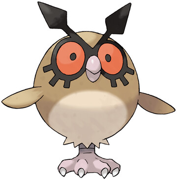 Hoothoot artwork by Ken Sugimori