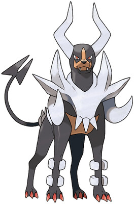 Mega Houndoom artwork by Ken Sugimori