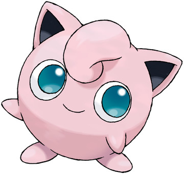 Jigglypuff artwork by Ken Sugimori